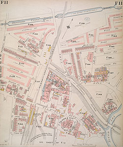 Map Of North East London.Insurance Plan Of London North East District Vol F Sheet 11